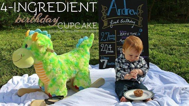 4-Ingredient Birthday Cupcake [gluten-free, dairy-free, vegan, paleo]