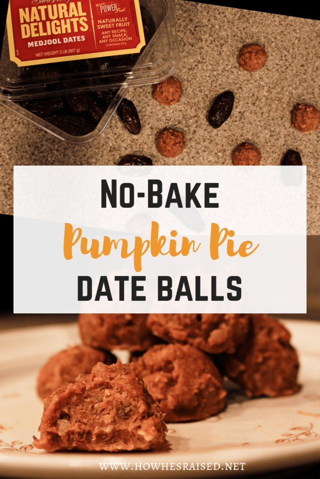 No-Bake Pumpkin Pie Date Balls